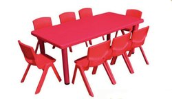 Red KPS 110 Big Rectangle Table, For Kid