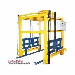 Double Pallet Moving Block Stacker