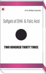 Softgels of DHA and Folic Acid