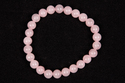 Rose Quartz Beaded Rubber Bracelet