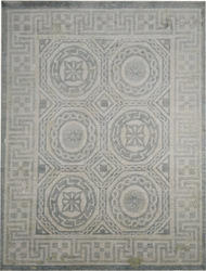 A Mosaic Design Wool Silk Oxidized Rugs and Carpets