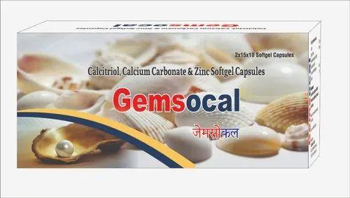 Gemsocal Calcium Soft Gelatin Capsule, Packaging Type: Blister