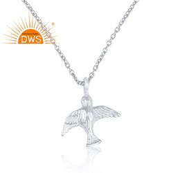 Handmade Bird Design 925 Sterling Fine Silver Pendant Jewelry