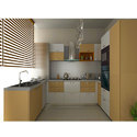 Wooden U Shaped Modular Kitchen, Base Unit Height: 2.5-3 Feet