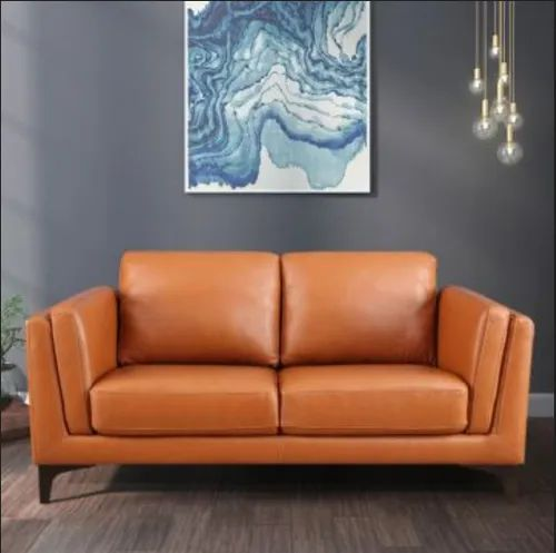 Maurice Leather Two Seater Sofa