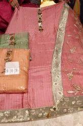 Fabric Upada Silk With Organiza Dupatta