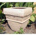 Beige Stone Art Planter (vertical)