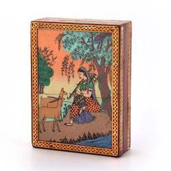 Gemstone Painting Jewelry Box 256
