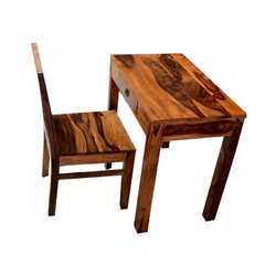 Brown Sheesham Wood Study Table With