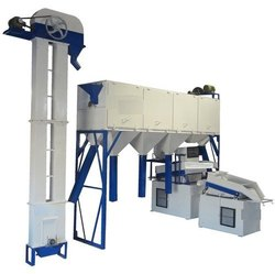 Semi Automatic Wheat Cleaning Machine Plant