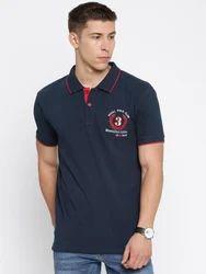 Masculino Latino Printed Men's Casual Half Sleeve Black Polo T Shirt , Size: Small, Medium, Large, XL