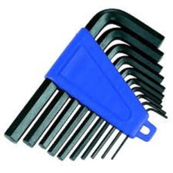 10 Piece Mild Steel Allen Key Set, For Construction