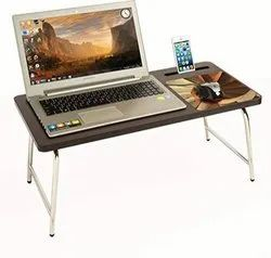 Parasnath Prime Mobile-Holder Bed Laptop Table with inbuilt Mobile Stand and Mousepad