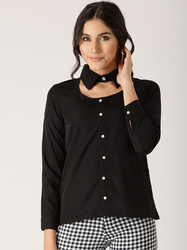 Plain Black Solid Shirt
