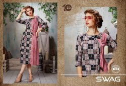 Rayon Knee Long 10am Checkered Kurti, Wash Care: Machine Wash