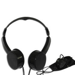 Black Foldable Headphones