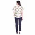 Lavanya Cotton Slub Bird Print Frill Top with Rayon Straight Pant