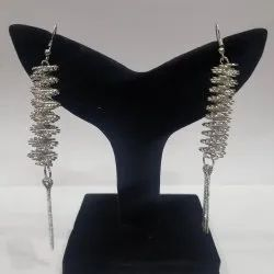 Silver and gold Spiral Earrings