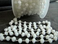 Chalcedony White Bead Chain 6mm