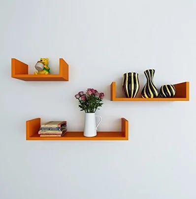 sports shoes b0159 38df6 Orange U Shape Wall Shelves