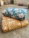 Indian Hand Block Print Cotton Quilt  Bedspread Throw Twin Size