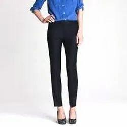 Cotton Plain Black Corporate Pant, Size: 28-40