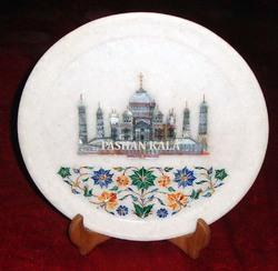 Marble Inlay Taj Mahal Plates