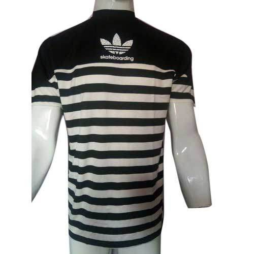 ab861f283 Sports Stripped T-Shirt, Adidas T Shirt, एडिडास टी शर्ट ...