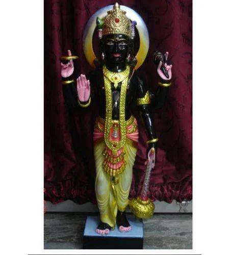 Marble Vishnu Statue Black Marble Vishnu Statue