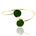 Druzy Green Gemstone Adjustable Bangles