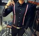 Men Black Cotton Shirt