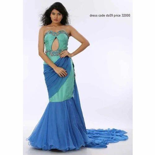 d223d489b4 Western Women Party Wear Gown, Rs 32000 /piece, Guruji S Creation ...
