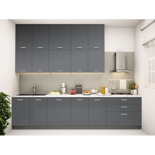 Grey Acrylic Modular Kitchen Cabinet Rs 50000 Unit Aj Furnitures Id 20478359391