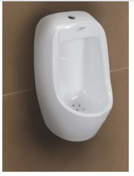 Mozio Italian White Flash Ceramic Urinal, for Bathroom