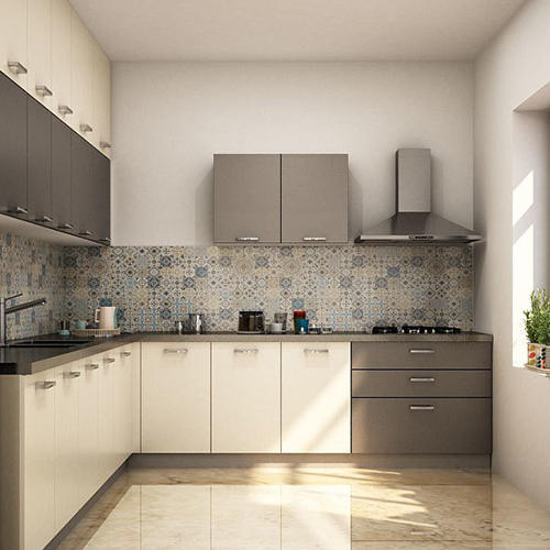 Interior Design In India Hyderabad: Plywood L-Shaped Modular Kitchen, Fast Track Furniture