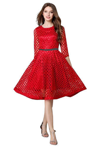 91fa0957d3e8 Lace For Prestige And Comfort Dresses Wigglee New Designer Red Western Dress