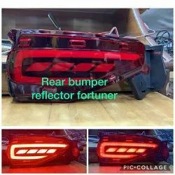 imported red and yellow Rear Bumper LED Reflector light