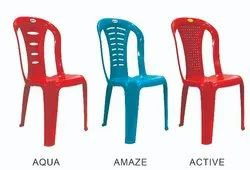 Diya Without Hand Rest (Without Arms) Amaze Plastic Chair, Warranty: 1 Year