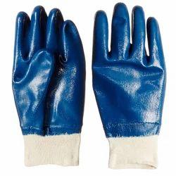 Full Nitrile Knitted Wrist Hand Gloves