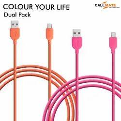 Callmate Pink,Orange 2 Amp Micro 1.2 Meter Mobile Phones Data Cable