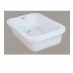 Sosyo Ceramics Ceramic Kitchen Sink, Size: 24x18x10 Inch