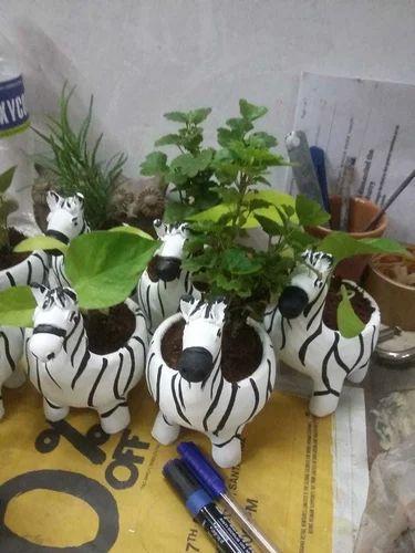 Animal Planters Elephant Zebra Panda Planter Indoor Outdoor Home