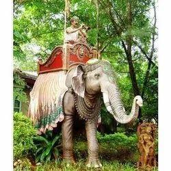 Frp Decorative Elephant Statue, For Exterior Decor