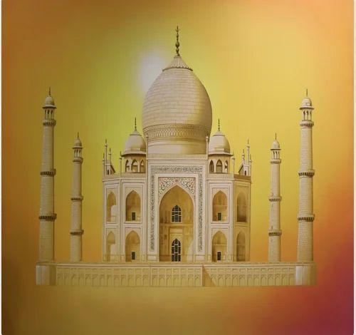 Taj Mahal Paintings at Rs 150000 | Wall Painting | ID: 19043076448