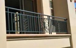 Bar Toughened Glass Iron Balcony Railing for Home