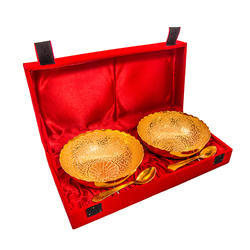 Gold Plated Carving Bowl Set