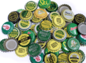 Metal Golden Silver Beer Caps