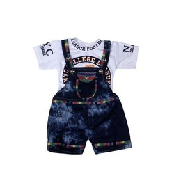 Cotton, Denim Forever Young Baby Designer Dungarees