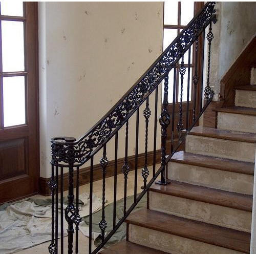 Bar Wrought Iron Stair Railing