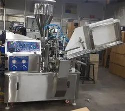 Automatic Tube Filling Sealing Batch Coding Machine